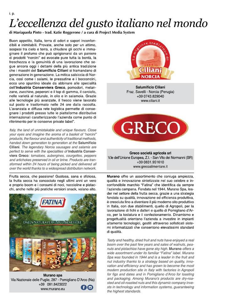 L'eccellenza del gusto italiano nel mondo